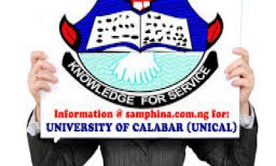 UNICAL Post UTME Admission Form 2019/2020 | Apply Here Online