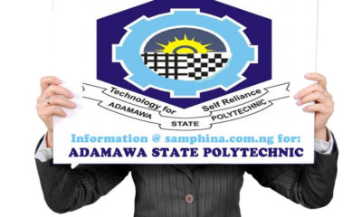 Adamawa State Polytechnic Post UTME Admission Form 2019/2020 | Apply
