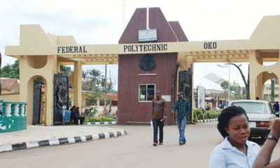 Federal Polytechnic, Oko Post UTME Admission Form 2019/2020 | Apply Here