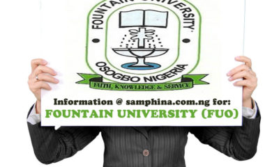 FUO Post UTME Admission Form 2019/2020 | Apply Here Online