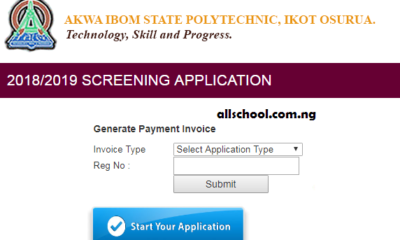 Akwa-Ibom State Polytechnic Post UTME Form 2019/2020 | Apply Here