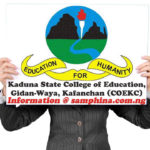 DOWNLOAD College of Education, Gidan-Waya, COEKC  Post UTME Past Question and Answers