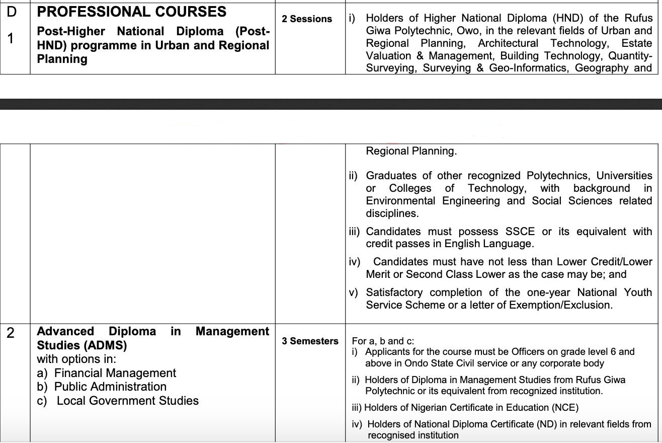RUGIPO Professional Courses Form