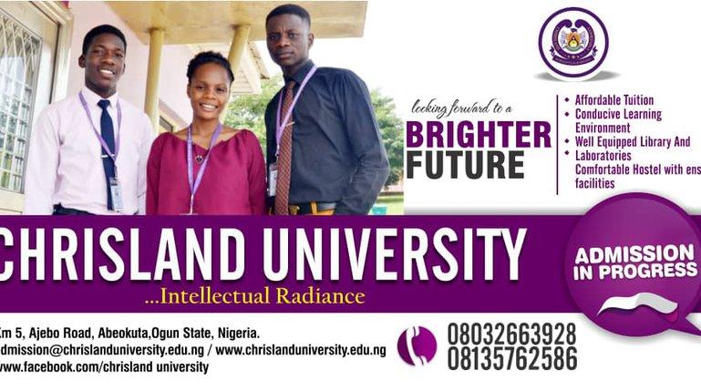 Chrisland University Degree Admission Form